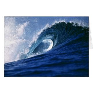 Fiji Islands, Tavarua, Cloudbreak. A wave Card