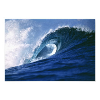 Fiji Islands, Tavarua, Cloudbreak. A wave Photo Art