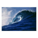 Fiji Islands, Tavarua, Cloudbreak. A wave Poster