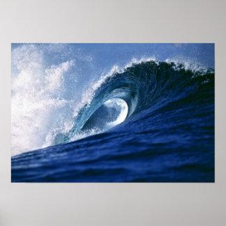 Fiji Islands, Tavarua, Cloudbreak. A wave Poster