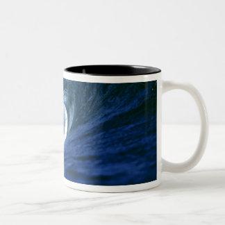 Fiji Islands, Tavarua, Cloudbreak. A wave Two-Tone Coffee Mug