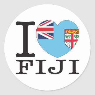 Fiji Love v2 Classic Round Sticker