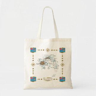 Fiji Map + Flags Bag