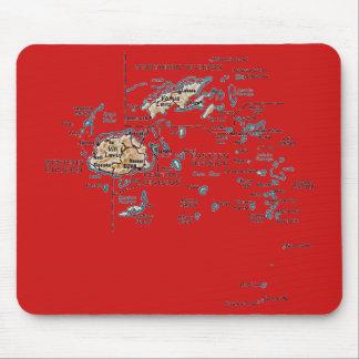Fiji Map Mousepad