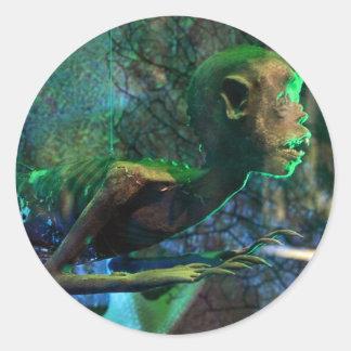 Fiji Mermaid Round Sticker