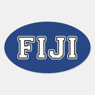 Fiji Oval Sticker