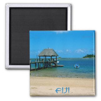 Fiji - Paradise Found on Malolo Island Square Magnet