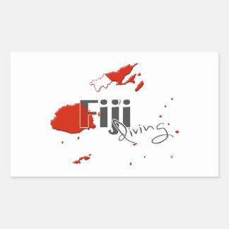 Fiji Scuba Diving Rectangular Sticker