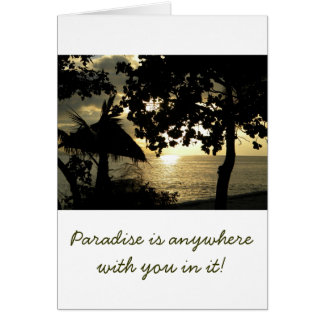 Fiji Sunset Card