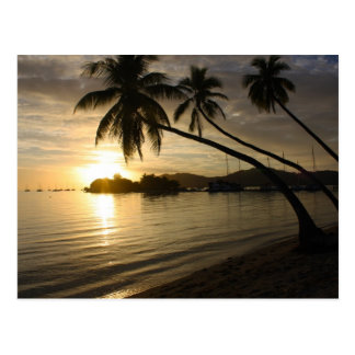 Fiji Sunset Postcard