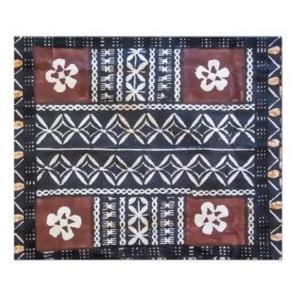 Fiji Tapa Cloth Photo Print