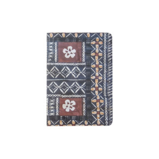 Fiji Tapa Cloth Print Passport Cover