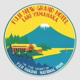 Fiji Travel Poster Classic Round Sticker