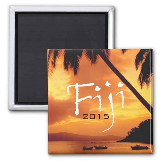 Fiji Travel Souvenir Fridge Magnet Change Year