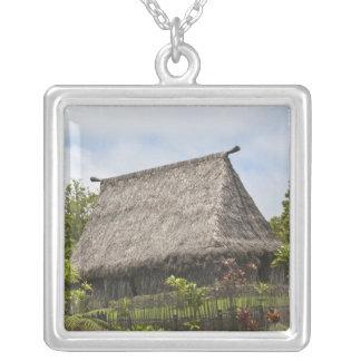 Fiji, Viti Levu Island. Polynesian Cultural Silver Plated Necklace
