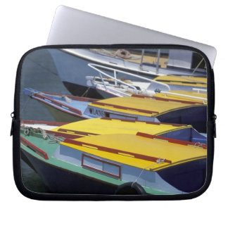 Fiji, Viti Levu, Lautoka, Small boats in Port of Laptop Sleeve