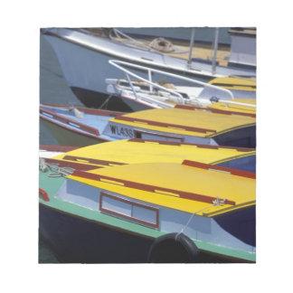 Fiji, Viti Levu, Lautoka, Small boats in Port of Notepad