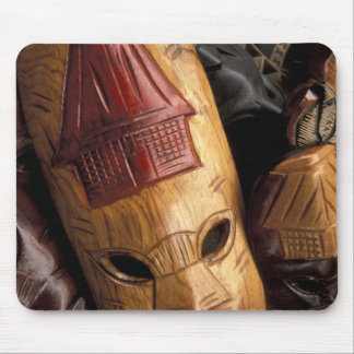 Fiji Viti Levu Masks at a town market Mouse Pad