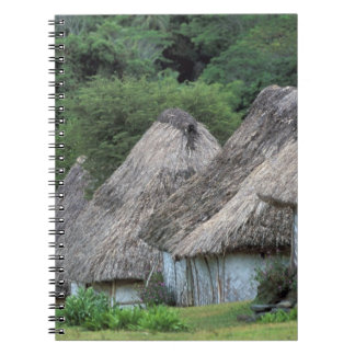 Fiji, Viti, Traditional hut houses. Notebook