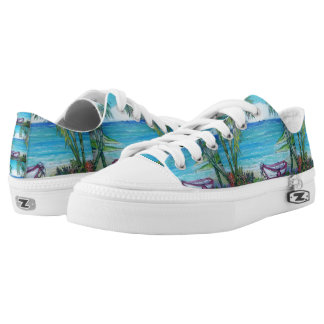 Fiji - Zipz Low Top Shoes, US Men 4 / US Women 6 Printed Shoes
