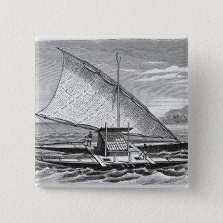 Fijian double canoe from The History of 15 Cm Square Badge