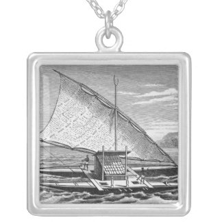 Fijian double canoe from The History of Silver Plated Necklace