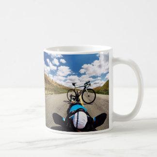 Fikeshot on the road. coffee mug