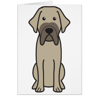 Fila Brasileiro Dog Cartoon Cards
