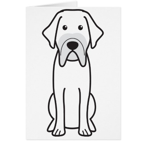 Fila Brasileiro Dog Cartoon Greeting Cards