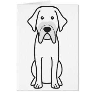 Fila Brasileiro Dog Cartoon Greeting Card