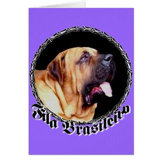 Fila Brasileiro Dog Greeting Card