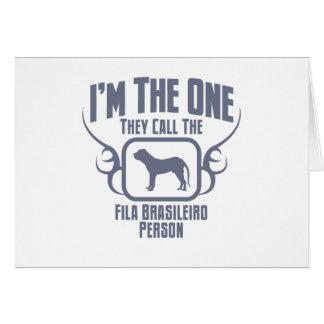 Fila Brasileiro Greeting Card