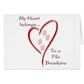 Fila Brasileiro Heart Belongs Card