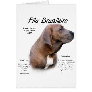 Fila Brasileiro History Design Greeting Cards