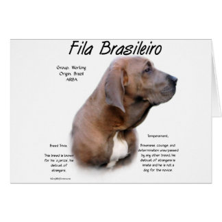 Fila Brasileiro History Design Greeting Card