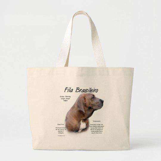 Fila Brasileiro History Design Large Tote Bag