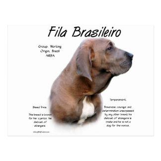 Fila Brasileiro History Design Postcard