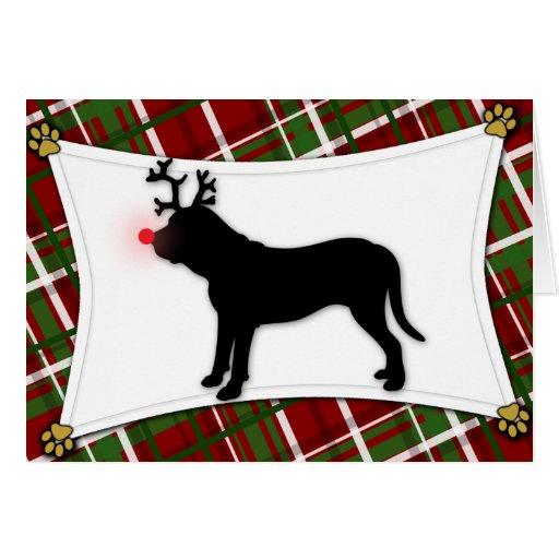 Fila Brasileiro Reindeer Christmas Card
