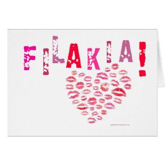 Filakia! (kisses) Greek Card