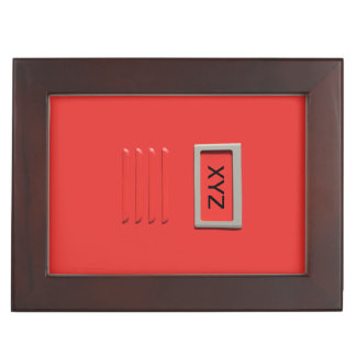 File Cabinet custom monogram keepsake box