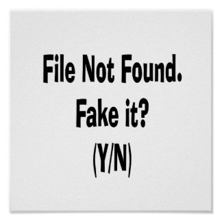 file not found black text funny computer design posters