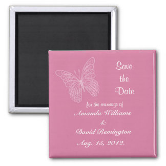 Filigree Butterfly Save The Date Magnet