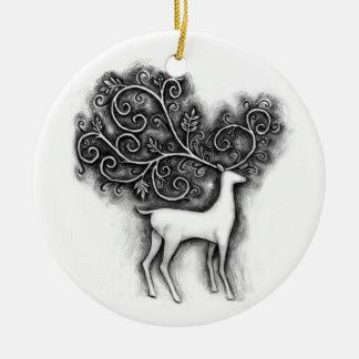 filigree deer christmas ornament
