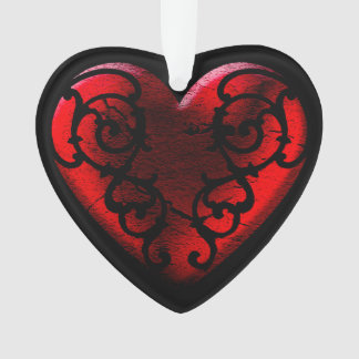 Filigree Goth Red Heart