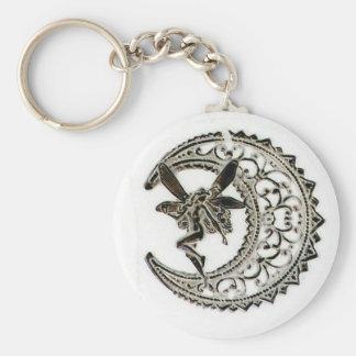 Filigree Moon Fairy Key Ring