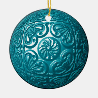 Filigree Ornament - Teal
