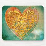 Filigree Pop Art Heart Mouse Pad