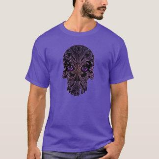 Filigree Skull in Shades of Purple T-Shirt