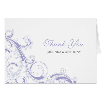 Filigree Swirl Lavender Thank You Card