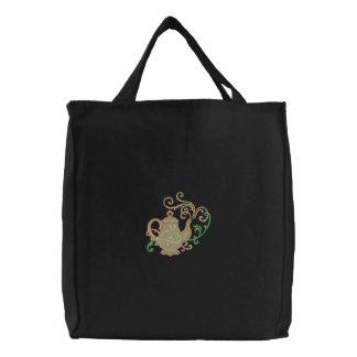 Filigree Teapot Embroidered Bag
